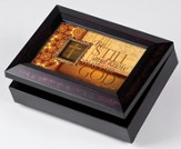 Music Box with Be Still and Know Cover, with Digital Music Compartment