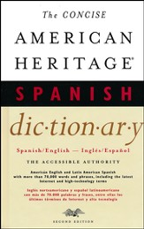 American Heritage Concise Spanish/English Dictionary 2nd Edition
