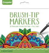 Fine Brush-Tip Markers, Pack of 32