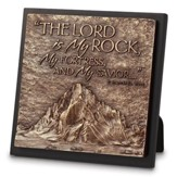 Lord is My Rock Sculpture Plaque
