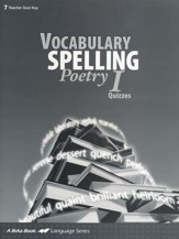 Vocabulary, Spelling, Poetry I Quizzes Key