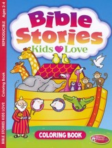 Bible Stories Kids Loves Coloring Book (ages 2 to 4)