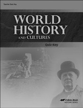 Abeka World History and Cultures Quiz Key