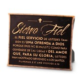 Siervo Fiel, Placa Marrón (Faithful Servant, Brown Plaque)