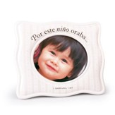 Por Este Niño Oraba, Marco de Foto, Blanco  (For This Child I Prayed, Photo Frame, White)