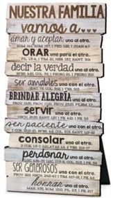 Nuestra Familia, Stacked Words Plaque