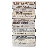 Nuestra Familia, Stacked Words Plaque, Spanish, Medium