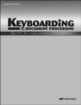 Abeka Keyboarding Quizzes & Tests Key