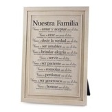 Nuestra Familia, Placa (Our Family, Plaque)