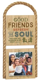 Good Friends Photo Plaque