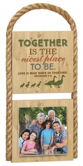 Together Is The Nicest Photo Plaque