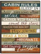 Cabin Rules Wall Art