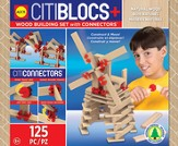 Citiblocs, Citi Connectors Natural Wood Set, 100 pcs