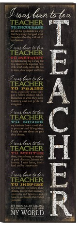 Born To Be A Teacher Wall Art
