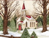 Woodland Church, Boxed Christmas Cards,18