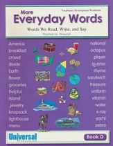 More Everyday Words, Book D Grade 4