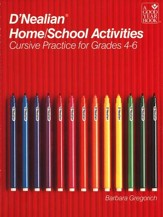 D'Nealian Home/School Activities: Cursive, Grades 4 to 6