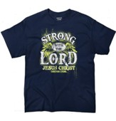 Strong With the Lord Shirt, Navy, Medium