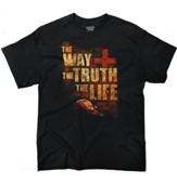 The Way, the Truth, the Life Shirt, Black, XX-Large