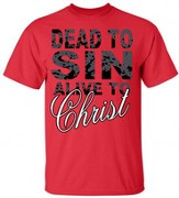 Dead To Sin, Alive to Christ Shirt, Red, X-Large