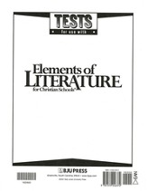 Elements Of Literature Grade 10, Tests (Updated Version)