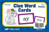 Abeka Clue Word Cards (K5; 119 cards)