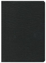 KJV Clarion Reference Bible--goatskin leather, black