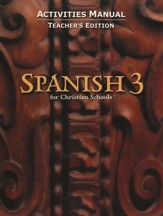 BJU Spanish 3 Student Activities Manual, Teacher's Edition