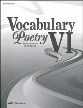 Vocabulary & Poetry VI Quizzes