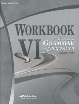 Abeka Workbook VI for Handbook of  Grammar & Composition  Quizzes/Tests