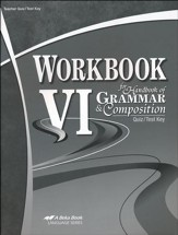 Workbook VI for Handbook of Grammar & Composition Quiz/Test  Key