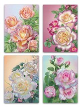 Roses Birthday Cards, Box of 12