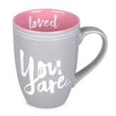 You Are Loved Mug, Pink and Grey