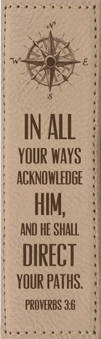 In All Your Ways Acknowledge Him Bookmark, Tan