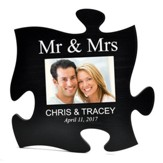 Personalized, Puzzle Photo Frame, Mr and Mrs, Black