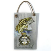 Fishers Of Men Wood Sign with Rope Hanger