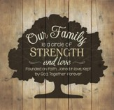 Our Family Is A Circle Of Strength and Love Wall Art