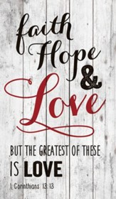 Faith Hope & Love Wall Art
