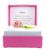 Sister, Pink Rose In Silk Gift Box
