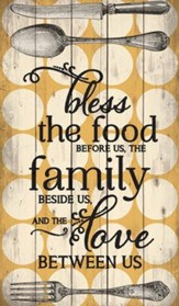 Bless the Food Before Us Wall Art