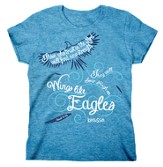 Wings Like Eagles, Missy Shirt, Blue, Small