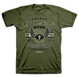 Awaken the Warrior Within Shirt, Green, Small