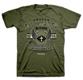 Awaken the Warrior Within Shirt, Green, XXX-Large