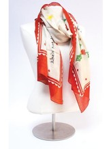 Jesus is the Light Scarf, red and White