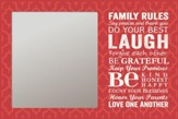 Family Rules Mirror, Red