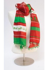 The Greatest Gift Scarf, Red and White