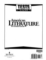 BJU American Literature Grade 11 Tests (Revised Edition)