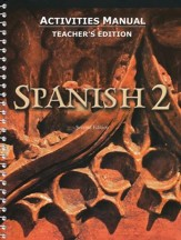 BJU Press Spanish 2 Student Activities Manual, Teacher's Edition (Second Edition)