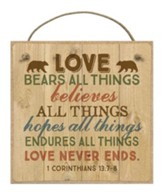 Love Bears All Things Magnet
