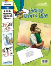 Going God's Way Beginner (ages 4 & 5) Bible Memory Verse Visuals
